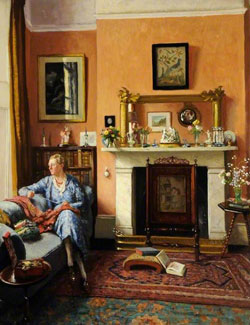 Drawing Room Interior by Frederick Hawkesworth S. Shepherd /1877–1948