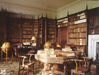 Library at Felbrigg Hall Norfolk England