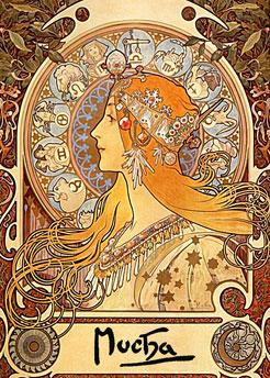 Zodiac by Alfons Maria Mucha/1860-1939