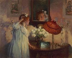 """""""The Mirror""""Albert Chevallier Tayler(1862-1925)"""