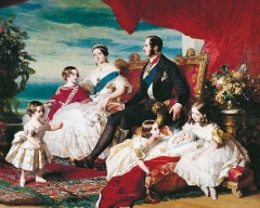 Queen Victoria, Prince Albert and their family by FX Winterhalter, painted in 1847 © The Royal Collection Trust