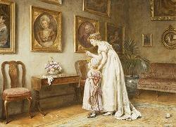 """""""Un po famiglia storia"""" by George Goodwin Kilburne (1839-1924)"""