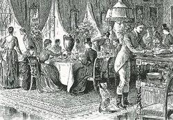 貴族の社交・キツネ狩り 朝食風景