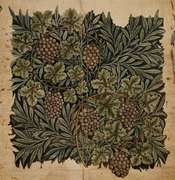 Vine for fabric pattern by William Morris